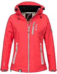 Geographical Norway Tempete–Chaqueta para mujer, color coral, tamaño S