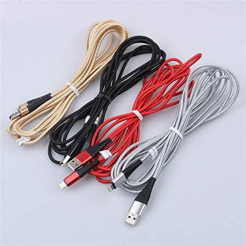 Interesting 9FT Nylon Geflochten Ladekabel Daten Sync Ladegerät Kabel zu USB Kabel kompatibel für iPhone 8, 8 Plus, 7, 7 Plus, 6S, 6 Plus, 5S, 5, iPod (4 Farben) (Ladegerät Geflochtener Iphone Schnur 5 Viel)