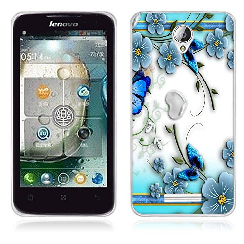 Fubaoda Lenovo A5000 Hülle, [Schmetterling] Künstlerische Malerei-Reihe TPU Case Schutzhülle Silikon Case für Lenovo A5000