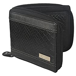 Krosshorn Leather Black Casual Regular Wallet (KW1081)