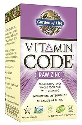 Garden of Life Vitamin Code Raw Zinc (30mg, 60 Ultra Zorbe Vegan Capsules) from Garden Of Life