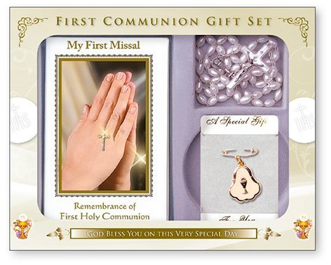 Symbolic Holy Communion Gift Set - Praying Hands Remembrance of