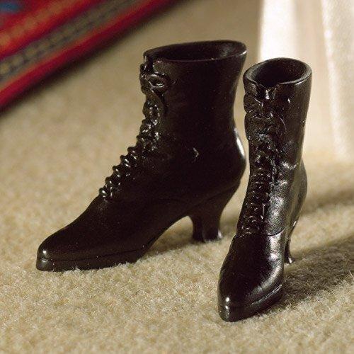 rium Schwarze Stiefel im Viktorianischen Stil (Kunststoff) (Viktorianische Stiefel)