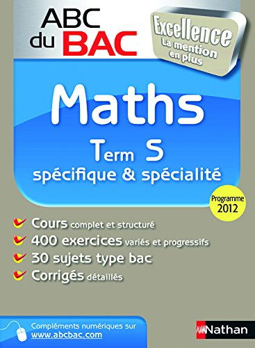 ABC BAC EXCELLENCE MATHS TER S
