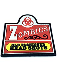 Zombies Old Fashioned Head Shots parche de velcro para Airsoft, color rojo