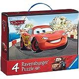 Ravensburger 07260 - Disney Cars: Abenteuer mit Cars - 2x 64 / 2x 81 Teile Puzzlekoffer
