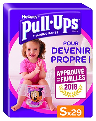 Huggies Lernwindeln, zum Hoch- und Herunterziehen, für Mädchen, Größe 4/S, 29Windeln (4 Stück Verstellbare Schnitt)