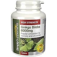 Ginkgo Biloba 6000mg|Favorisce la circolazione nelle estremità |360 Compresse