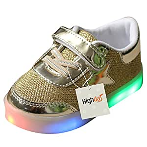 Led Light Up Gold Trainers Shoes For Boys Uk Store