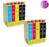 AA+inks 10x Druckerpatronen T1281 - T1284 Kompatible für Epson Stylus SX125 SX 125 SX-125 SX130 SX-130 SX420W SX425W SX430W SX435W SX440W SX438W SX445W Office BX305F BX305FW Plus Mit CHIP -10PK