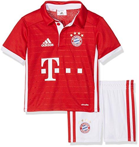 adidas Baby Trainingsanzug FC Bayern München Mini-Heimausrüstung, Fcb True Red/White, 98