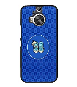 PrintVisa Designer Back Case Cover for HTC One M9 Plus :: HTC One M9+ :: HTC One M9+ Supreme Camera (Shooes Lace Circle Sqare Texture Blue)