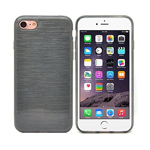 iProtect iPhone 7 e iPhone 8 Clear Crystal Soft Case custodia in TPU 0,3mm trasparente Sabbiato nero