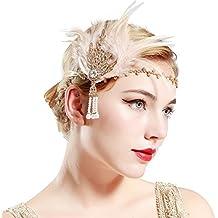 6cfe42ddde618 Babeyond Fascia Anni 20 Gatsby Flapper Headband Fascia Charleston con Piuma  Anni 20 Fascia Capelli Gatsby