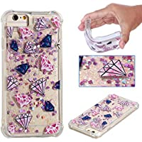 SHYHONG Kompatibel iPhone 7/iPhone 8 Hülle+5D gehärtetem Glas Dynamischer Treibsand Transparent TPU Silikon Handyhülle Vier Eckluftkissen Schutzhülle Anti-Shock Bumper Cover(Kristall)