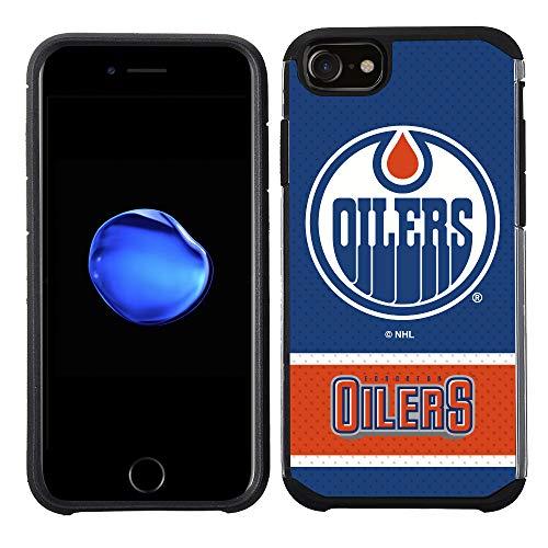 Schutzhülle für Apple iPhone 8 / iPhone 7 / iPhone 6S/ iPhone 6, NHL Lizenziertes Edmonton Oilers, Blau/Jersey texturiert