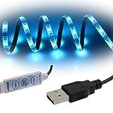 Simfonio Strisce LED Illuminazione 1m 5050 SMD Impermeabile 30Leds Full Kit con Mini controller e cavo USB per Casa Decorativo immagine
