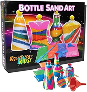 KandyToys Kreative Kids Bottle Sand Art Childrens Craft Activity Set