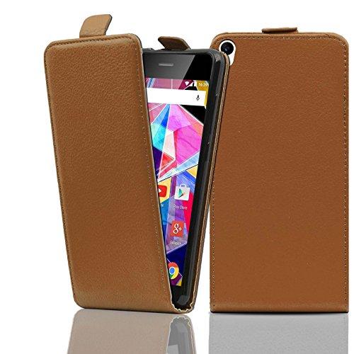 Ordica DE® Hülle Archos Diamond S Flip Case braun KlapeHülle mit Magnetverschluss Tasche klapphülle ständer schutzhülle