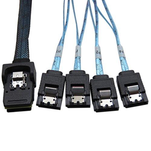YIWENTEC Mini SAS 36P sff-8087 zu 4-SATA-Festplatte mit Kabel 0.5m