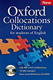 Oxford Collocations Dictionary for students of English: A corpus-based dictionary with CD-ROM which shows the most frequently used word combinations in British and American English.