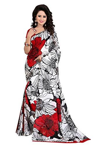 J B Fashion Women's Cotton Sarees With Blouse Piece (Rakhi-White_White)