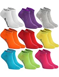 Rainbow Socks 6, 9 o 12 pares de calcetines cortos en 12 colores de moda
