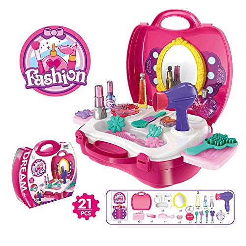qiaoniuniu Makeup Set for Girls Pretend Play Dress -