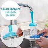#8: Hk Villa Water Saving Kitchen Faucet Accessories Flexible Sink Tap Sprayer Attachment Adjustable Faucet Adapter Nozzle Spout Kitchen - Random Color