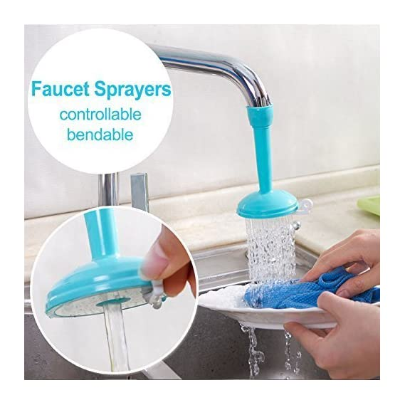 Clothsfab Water Saving Kitchen Faucet Accessories Flexible Sink Tap Sprayer Attachment Adjustable (Multicolour, 1 water saving faucet)