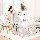 Box sauna riscaldatore a raggi infrarossi Gona - 88 × 78 × 102 cm PVC Sauna a vapore portatile 1000W, regolazione della temperatura a 1-9 marce Controllo elettronico, con telecomando senza fili,Silver
