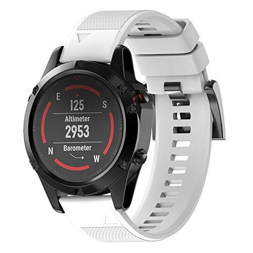 15dd2c530e07 JiaMeng Correas para Garmin Fenix 5 Reloj GPS de Pulsera de Silicagel Correa  de Banda de