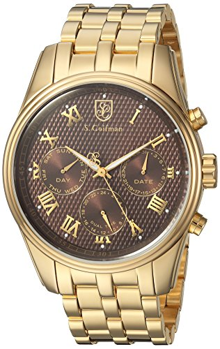 S. Coifman Men's 'Heritage' Quartz and Stainless Steel Casual Watch, Color:Gold-Toned (Model: SC0405)