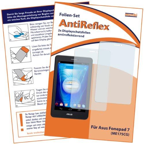 Preisvergleich Produktbild 2 x mumbi Displayschutzfolie Asus Fonepad 7 ME175CG Schutzfolie AntiReflex matt