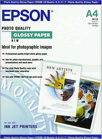 Epson INKJET GLOSSY Fotopapier DIN A4 20 Blatt