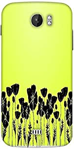 Snoogg Grass And Poppy Designer Protective Back Case Cover For Micromax A110