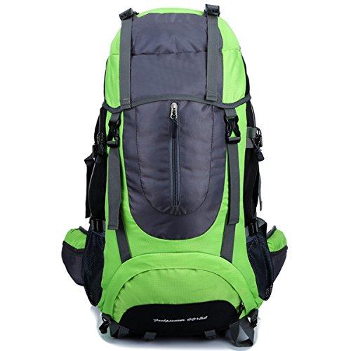 arrampicata All'aperto Escursionismo Le spalle Impermeabile Sport Viaggio Campeggio Zaino (Giallo) verde