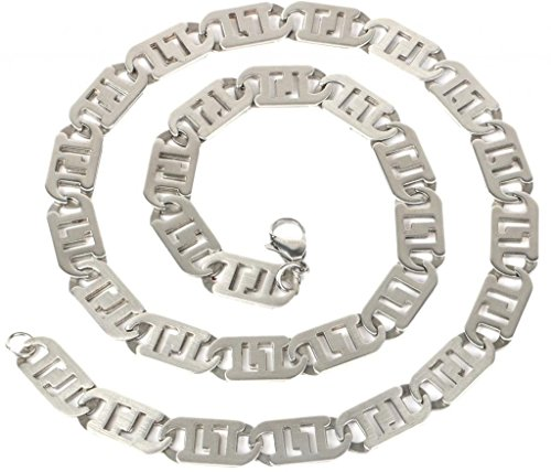 "the jewelbox mens stainless steel silver matt finish italian link rope chain 21"""