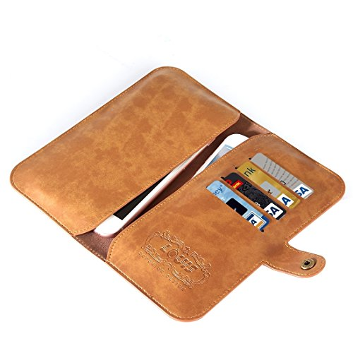 Hülle für iPhone 7 plus , Schutzhülle Für iPhone7 / 6 & iPhone7 Plus / 6 Plus Crystal Texture Zwei-Shipper Lagerung Horizontale Flip Leder Tasche mit Card Slots & Wallet ,hülle für iPhone 7 plus , cas Brown