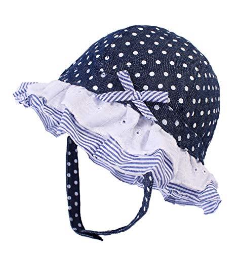 Boomly Baby Mädchen Sonnenhut mit Kinnriemen Fischerhut Hut UV-Schutz Sommer Becken Kappe Welle Punkt Schirmmütze Kinder Hut Für 0-3 Jahre (Lila, 6-12 Monate) - 2 1 Größe Ausgestattet Hüte 8