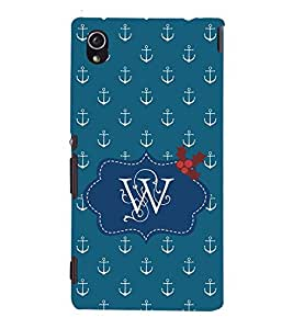 EPICCASE Lots of Anchor Mobile Back Case Cover For Sony Xperia M4 Aqua Dual (Designer Case)