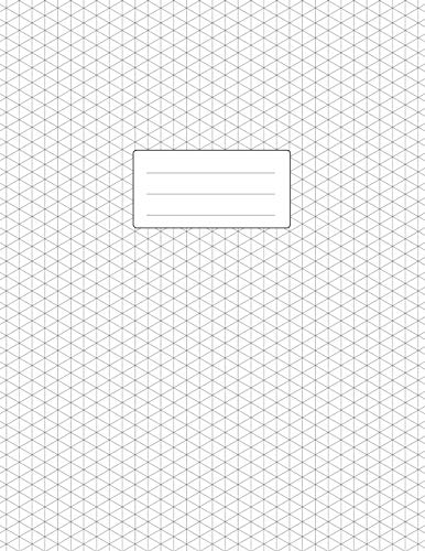 Isometric Graph Paper Notebook: Large Pad 8.5x11 | 110 Pages | Subtle Light Grey Grid | 1/4 Inch Equilateral Triangle | Softcover Book | For 3D Design, Technical Drawing, Artwork (Graph-pad-11x17)