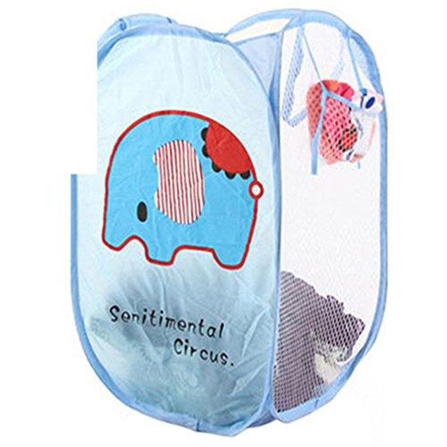 Tianfuheng pop-up Panier à linge pliable à laver Panier à linge Sac poubelle Panier de vêtements Organisateur de rangement en maille Taille unique éléphant
