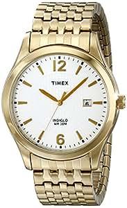 Timex Classic Men's Goldtone Expansion Bracelet, White Dial - T2N849