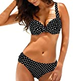 Donna Stampa Traspirante 2 Pezzi Bikini Costumi da Bagno da Mare Taglie Forti