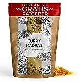 Curry Madras Gewürzmischung 250g | Indisches Currypulver pikant Gewürzspezialität inkl. gratis Ratgeber | hochwertiges Küchengewürz Currygewürz Gewürz