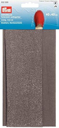 Prym 40x 40cm 0,16m SQ Espadrilles Futter zum Aufbügeln, grau