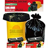 Shalimar Premium OXO - Biodegradable Garbage Bags (Extra Large) Size 76 cm x 94 cm 6 Rolls (90 Bags) ( Black Colour )