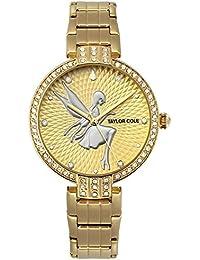 Taylor Cole TC091 - Reloj Señora Hada Cuarzo de Acero Inoxidable Dorado
