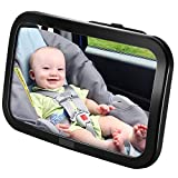 Westeng 1 PCS Espejo Retrovisor Coche para Vigilar al bebé en el Coche - 360° Ajustable Irrompible Interior Espejo Coche Bebé,Color Negro